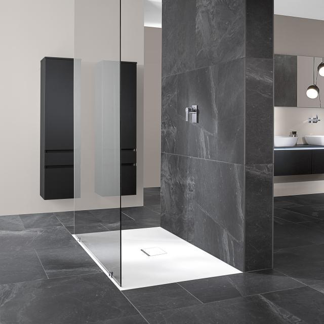 Villeroy & Boch Squaro Infinity Receveur de douche pour montage affleurant stone white