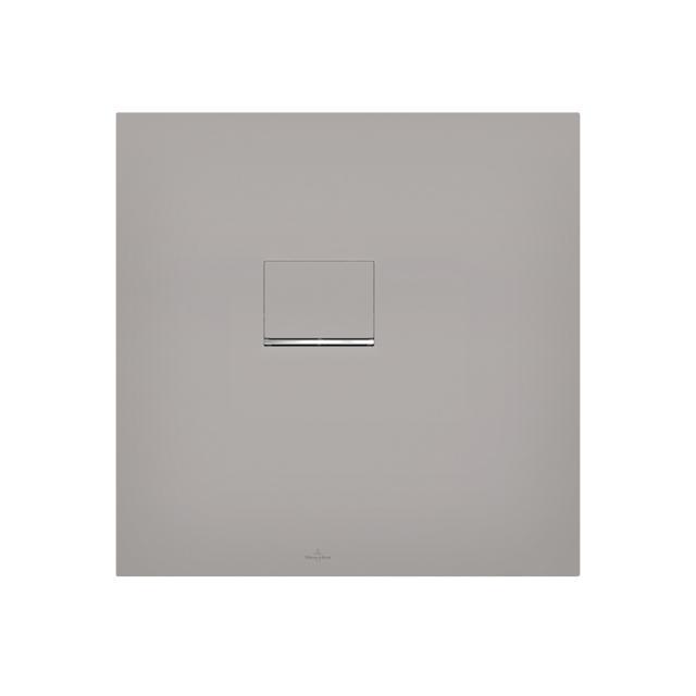 Villeroy & Boch Squaro Infinity shower tray for corner installation, cut on the short side long & short side cut, grey