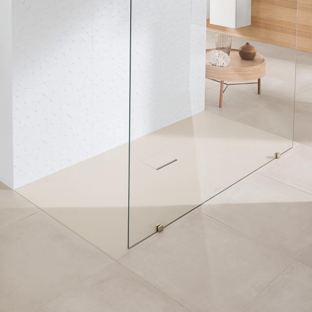 Villeroy & Boch Squaro Infinity shower tray only flush-fit installation cream