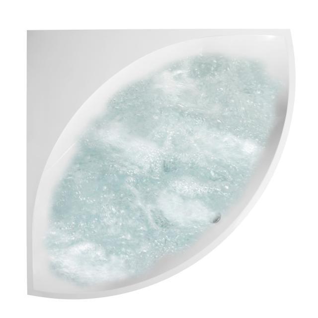 Villeroy & Boch Squaro Slim Line corner whirlbath white, with AirPool Entry