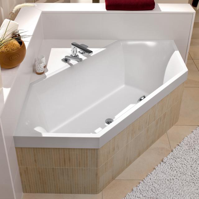 Villeroy & Boch Squaro Slim Line hexagonal bath, built-in white