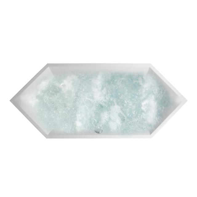 Villeroy & Boch Squaro Slim Line hexagonal whirlbath white, with AirPool Entry