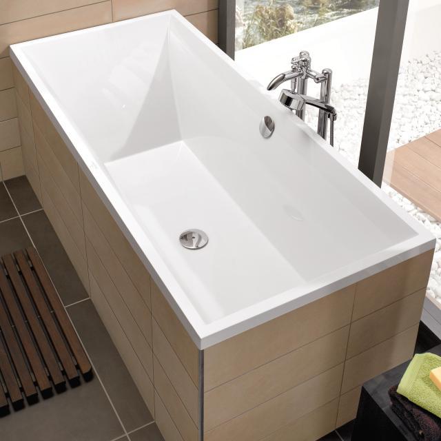 Villeroy & Boch Squaro Slim Line rectangular bath, built-in white