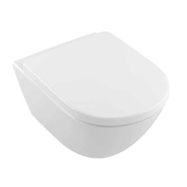 Villeroy & Boch Subway 2.0 Comfort wall-mounted washdown toilet, open flush rim, DirectFlush white, with CeramicPlus