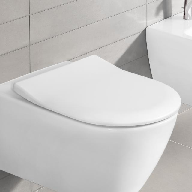 Villeroy & Boch Subway 2.0 toilet seat SlimSeat, removable, with soft close white