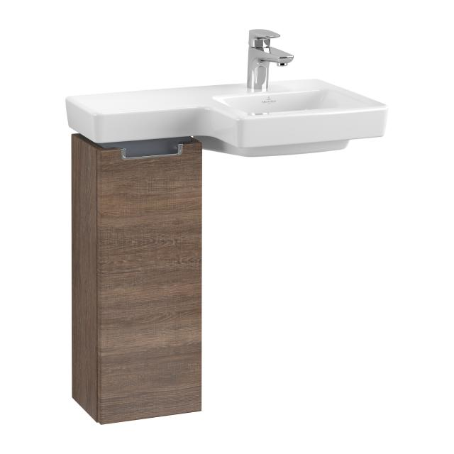 Villeroy & Boch Subway 2.0 vanity unit for hand washbasin with 1 door front santana oak / corpus santana oak, chrome handle