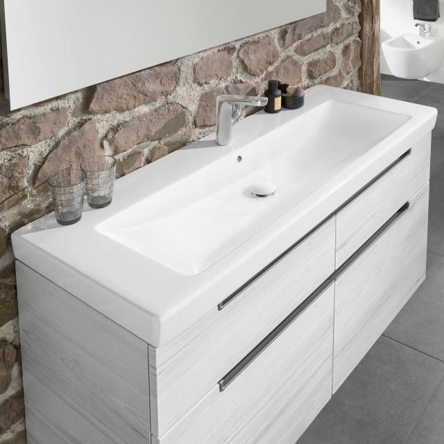 Villeroy & Boch Subway 2.0 vanity washbasin white, with CeramicPlus, with 1 tap hole