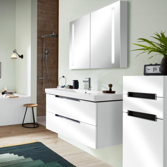 Villeroy & Boch Subway 2.0 washbasin with vanity unit and My View 14 mirror cabinet
