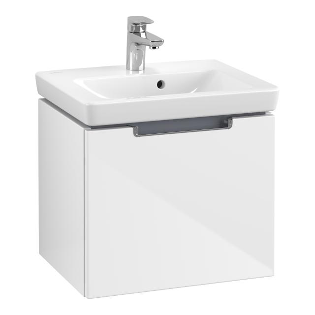 Villeroy & Boch Subway 2.0 washbasin with vanity unit with 1 pull-out compartment white, with CeramicPlus