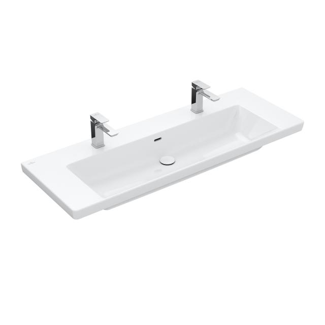 Villeroy & Boch Subway 3.0 double vanity washbasin white, with overflow