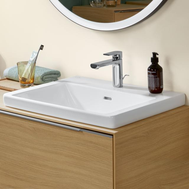 Villeroy & Boch Subway 3.0 drop-in washbasin white, with CeramicPlus, with 1 tap hole, without overflow
