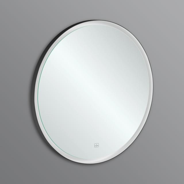 Villeroy & Boch Subway 3.0 mirror with LED lighting aluminium frame matt black, with sensor dimmer