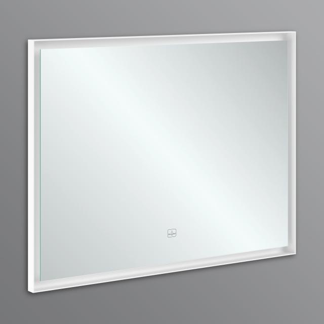 Villeroy & Boch Subway 3.0 mirror with LED lighting aluminium frame matt white, with sensor dimmer