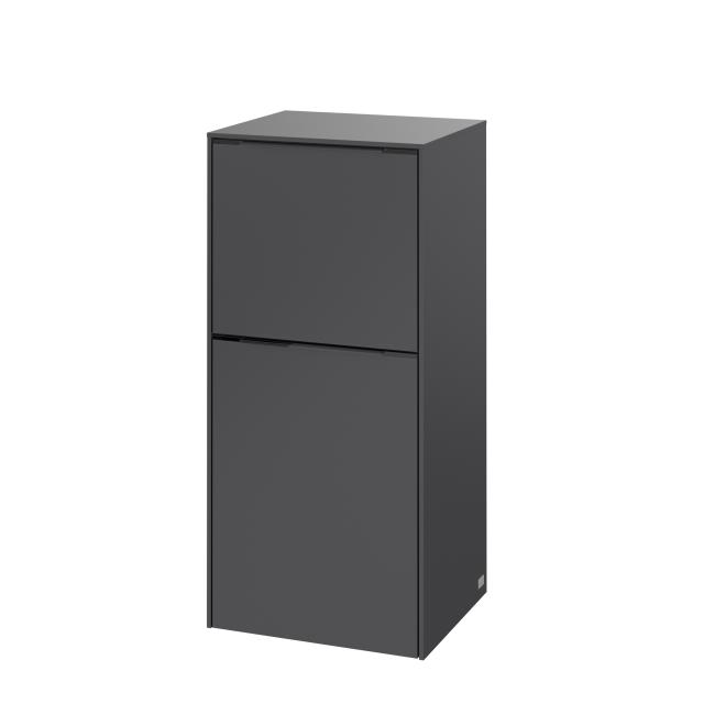 Villeroy & Boch Subway 3.0 side unit with 1 door and 1 pull-out compartment front graphite / corpus graphite, handle strip aluminium gloss