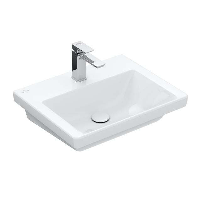 Villeroy & Boch Subway 3.0 vanity washbasin white, with CeramicPlus, with 1 tap hole, without overflow