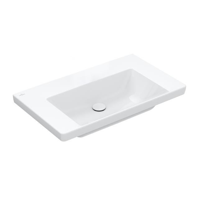 Villeroy & Boch Subway 3.0 vanity washbasin white, with CeramicPlus, without tap hole, without overflow