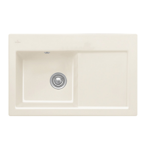 Villeroy & Boch Subway 45 Flat sink cream gloss/without tap hole