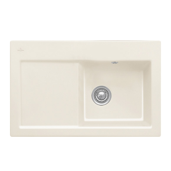Villeroy & Boch Subway 45 sink cream gloss/without tap hole