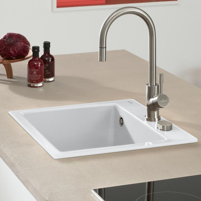 Villeroy & Boch Subway 50 S built-in sink white alpine high gloss/position boreholes 2 and 3