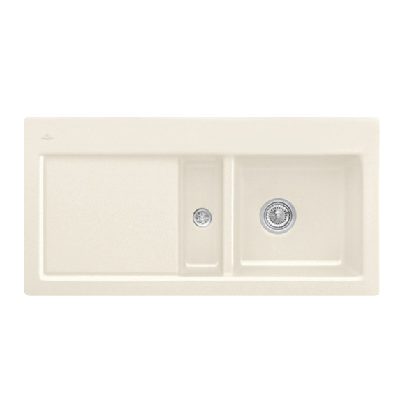 Villeroy & Boch Subway 60 Flat sink cream gloss/without tap hole
