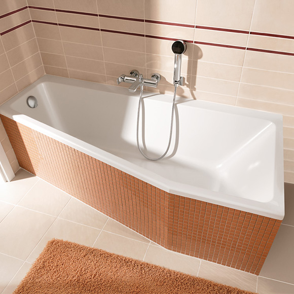 Villeroy & Boch Subway compact bath, built-in white