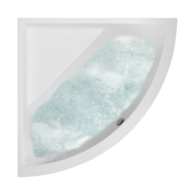 Villeroy & Boch Subway corner whirlbath white, with AirPool Entry