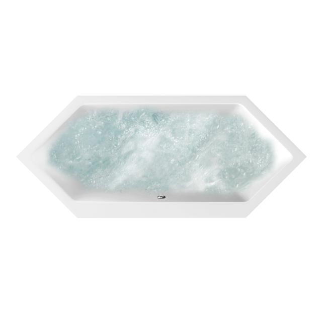 Villeroy & Boch Subway Duo hexagonal whirlbath white, with AirPool Entry
