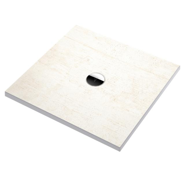 Villeroy & Boch Subway Infinity shower tray cut on four sides ViPrint decor upper side creme-effect