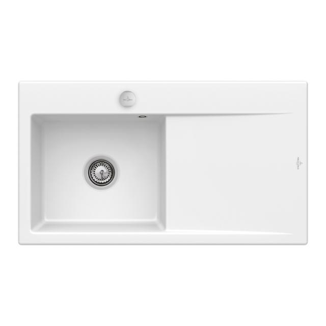 Villeroy & Boch Subway Style 50 Flat sink white alpine high gloss/position boreholes 1 and 2