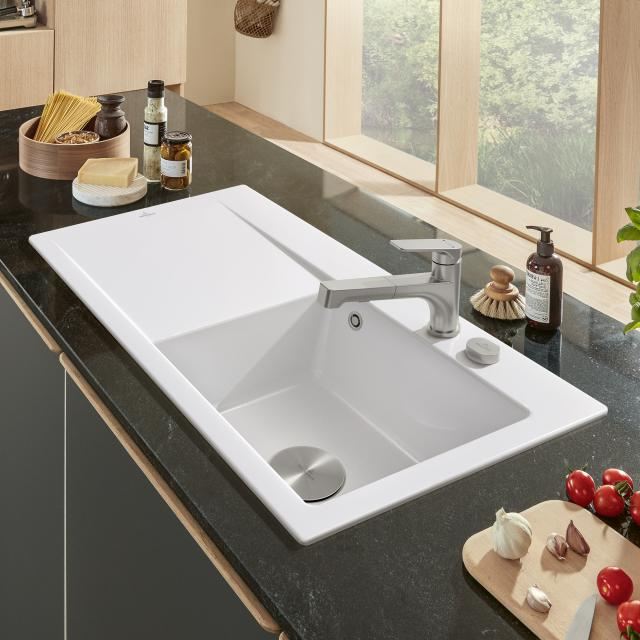 Villeroy & Boch Subway Style 50 sink white alpine high gloss/position boreholes 2 and 3