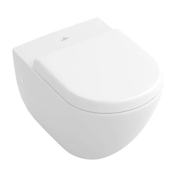 Villeroy & Boch Subway wall-mounted washout toilet, for GERMANY ONLY! white, with CeramicPlus