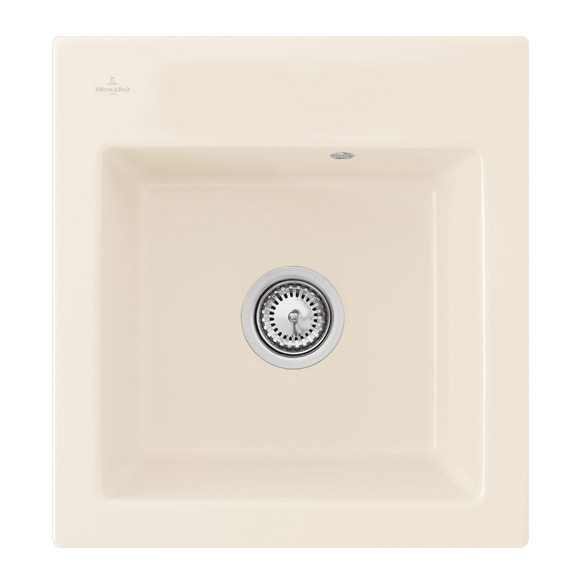 Villeroy & Boch Subway XS Flat sink cream gloss/without tap hole