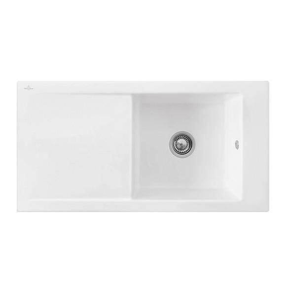 Villeroy & Boch Timeline 60 Flat sink white alpine high gloss/without tap hole