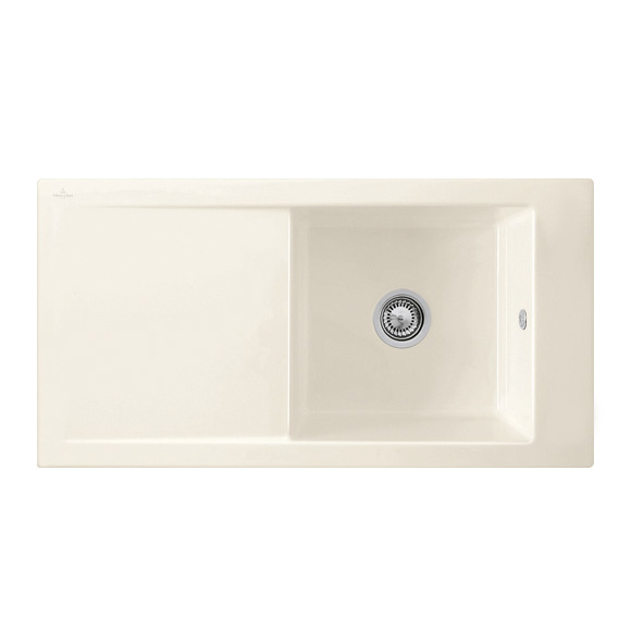 Villeroy & Boch Timeline 60 sink cream gloss/without tap hole