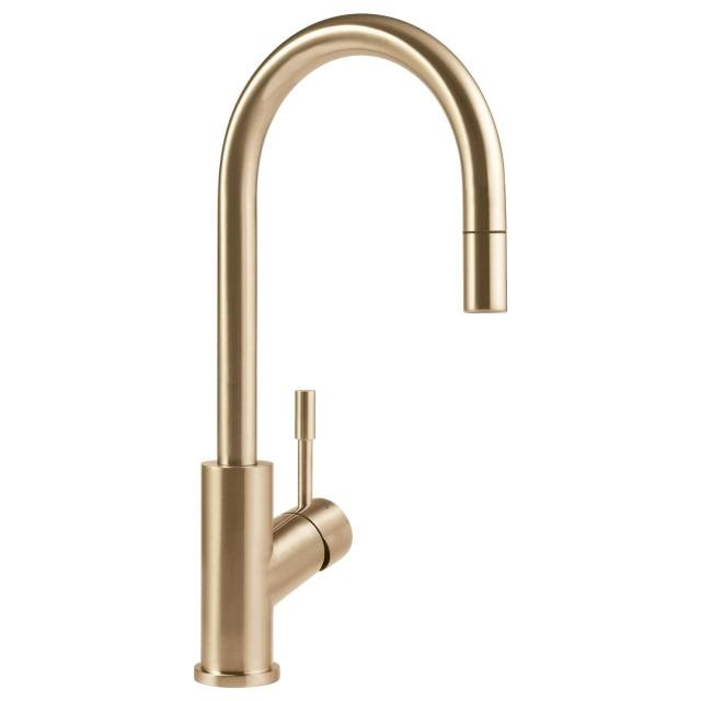 Villeroy & Boch Umbrella Flex single lever kitchen mixer gold