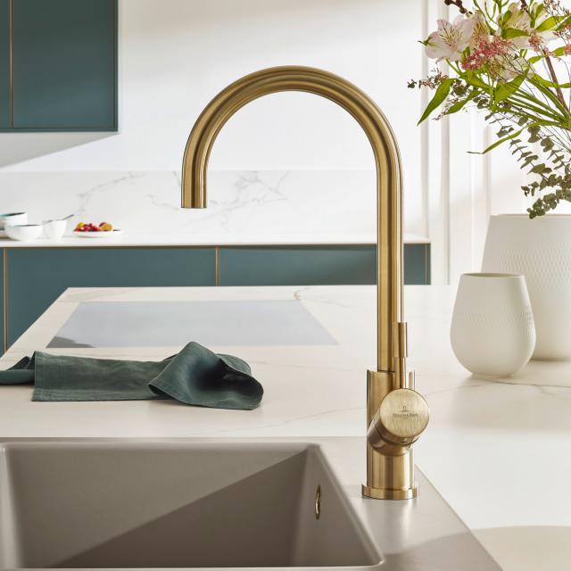 Villeroy & Boch Umbrella single lever kitchen mixer gold
