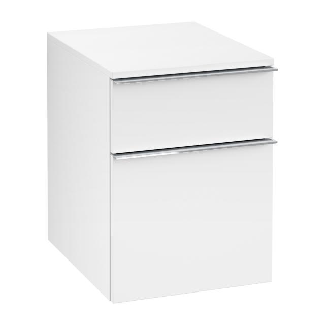 Villeroy & Boch Venticello add-on unit with 2 pull-out compartments front matt white / corpus matt white, chrome handles