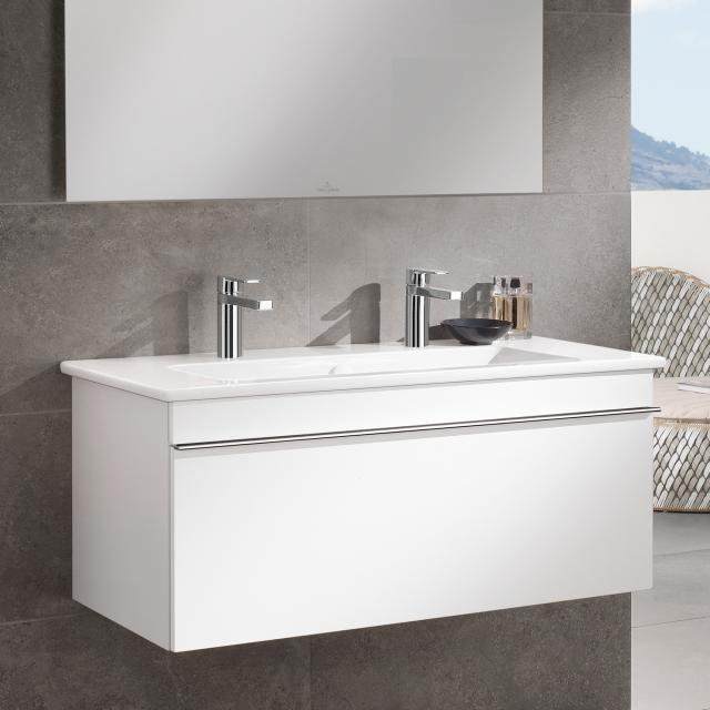 Villeroy & Boch Venticello double vanity washbasin white, with CeramicPlus, with 2 tap holes punched through