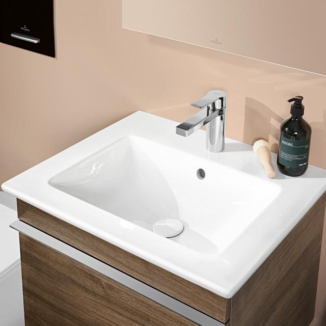 Villeroy & Boch Venticello washbasin, underside grounded white, with CeramicPlus, with 1 tap hole punched through