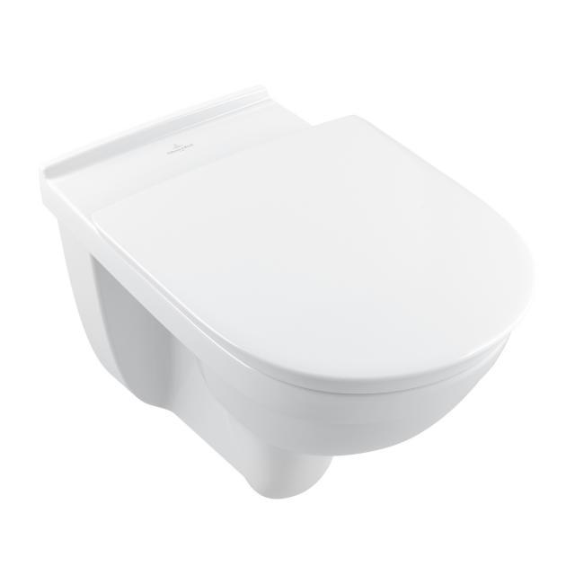 Villeroy & Boch ViCare wall-mounted washdown toilet, open flush rim, DirectFlush white, with CeramicPlus and AntiBac