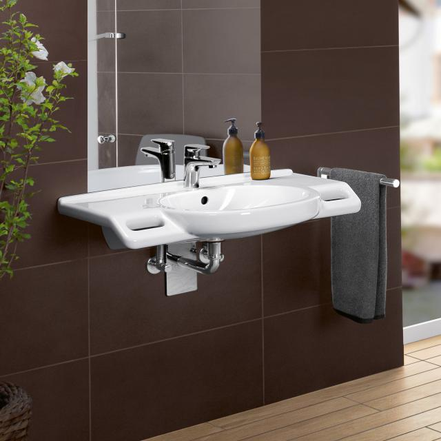 Villeroy & Boch ViCare washbasin, wheelchair accessible white, with CeramicPlus, with AntiBac