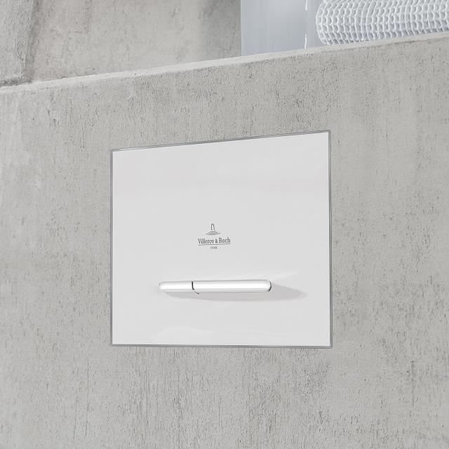 Villeroy & Boch ViConnect E300 toilet flush plate white