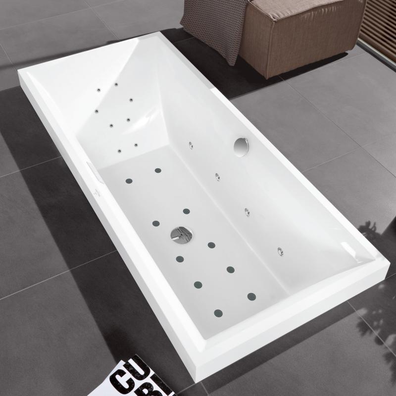 villeroy boch squaro duo rectangular bath  whirlpool