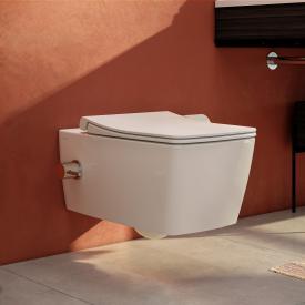 VitrA Aquacare Metropole Cuvette murale à fond creux en set avec fonction lavante, avec abattant Avec robinetterie thermostatique intégrée