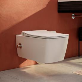 VitrA Aquacare Metropole wall-mounted washdown toilet set with bidet function, with toilet seat with integrated fitting