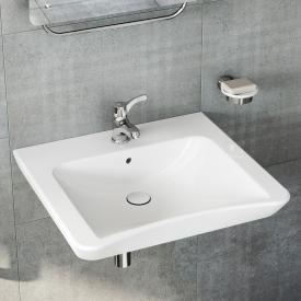 VitrA Conforma washbasin, barrier-free white, with VitrAclean, with 1 tap hole, with overflow
