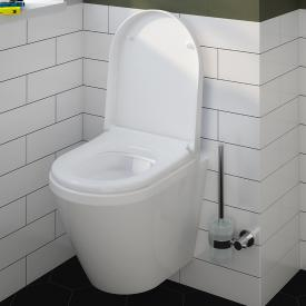 VitrA Integra wall-mounted washdown toilet Compact VitrAflush 2.0 with bidet function white, with VitrAclean