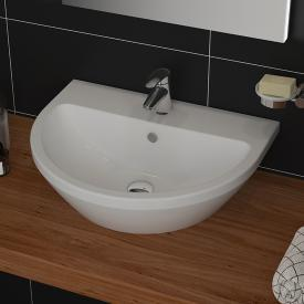 VitrA Integra hand washbasin white, with VitrAclean, with 1 tap hole, with overflow