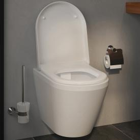 VitrA Integra wall-mounted washdown toilet with bidet function rimless, white, with VitrAclean