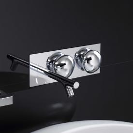 VitrA Istanbul concealed, two handle basin mixer without waste set